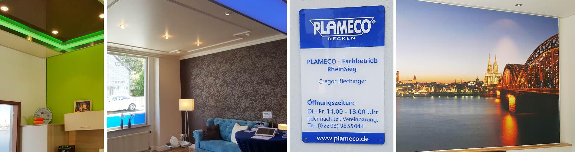 Spanndecken-Ausstellung in Köln-Porz, PLAMECO RheinSieg - Gregor Blechinger - Frankfurter Straße 493