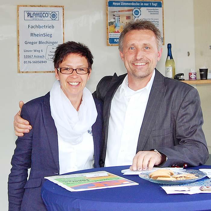 PLAMECO-RheinSieg Inhaber Gregor Blechinger renoviert jedes Jahr zahlreiche Spanndecken