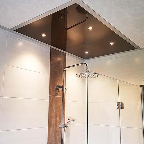 Deckengestaltung Badezimmerdecke - PLAMECO-Decke im Bad