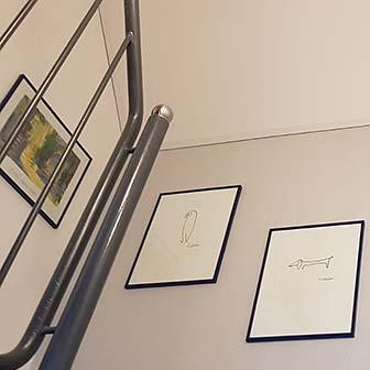 Treppenhaus renovieren - PLAMECO-Decke im Treppenhaus in Köln